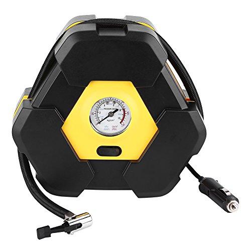 Qiilu autopomp 12 V banden mobiel luchtpistool compressor met naaldaanduiding voor auto's ballen fietsen