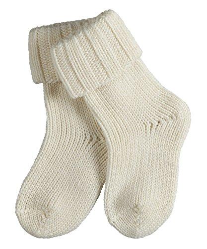 FALKE Unisex Baby Flausch B SO Socken, Blickdicht, Weiß (Off-White 2040), 6-12 Monate (74-80cm)