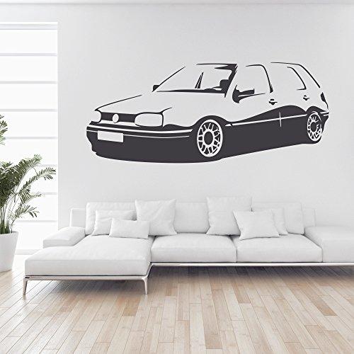 malango® Wandtattoo - Auto Fahrzeug Tuning Wand Tattoo Wandaufkleber Autowelt Männerwelt Design Style Aufkleber ca. 60 x 25 cm schwarz