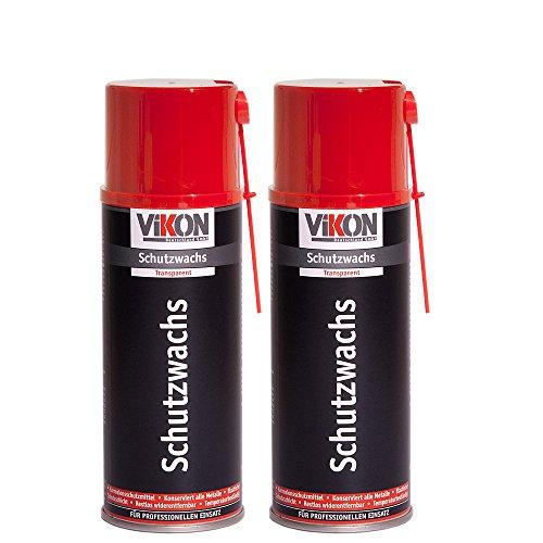2 Dosen VIKON Schutzwachs-Spray 400 ml - transparente Konservierung (Hohlraumversiegelung / Hohlraumkonservierung) mit Sprührohrverlängerung