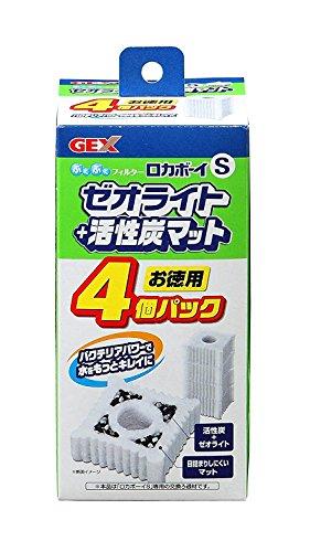 ジェックス ロカボーイ ゼオライト&活性炭マット Sサイズ 4個入