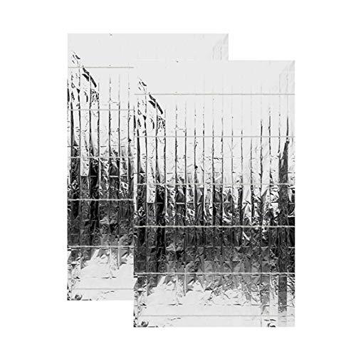 Reflektierende Mylar-Folie, für Garten, Gewächshaus, doppelseitig, reflektierend, Mylarfolie für Gewächshaus, 2 Stück