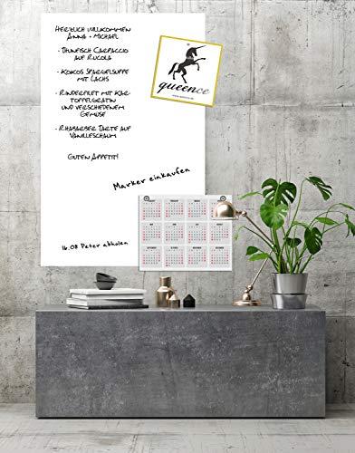 Queence Selbstklebende Magnetische Whiteboard Folie   Weißwandtafel   Whiteboard   Schreibtafel   Folie   Wandfolie   Multifunktionstafelfolie   Farbe: Weiß, Größe:100x200 cm - 3