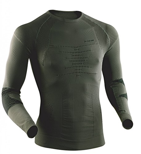 X-Bionic t-Shirt imperméable pour Adulte Combat Man UW LG SL S/M Multicolore - Sage Green/Anthracite