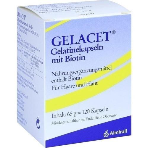 GELACET Gelatinekapseln mit Biotin 120 St