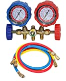 Digital Craft Manifold Gauge and Refrigerant Testing Charging Evacuation Set for Air Condition Tool Refrigeration