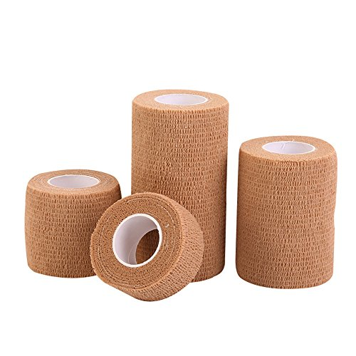 Sports Tape Verbanden Self-pleisters elastische sporttape Skin Color Sports Tape 5cm * 4.5m 20 Rolls Athletic Sports Tape