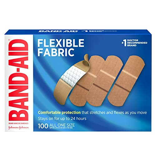 Band-AID Flexible Fabric Adhesive Bandages 3/4 inch X 3 inches (100 count)