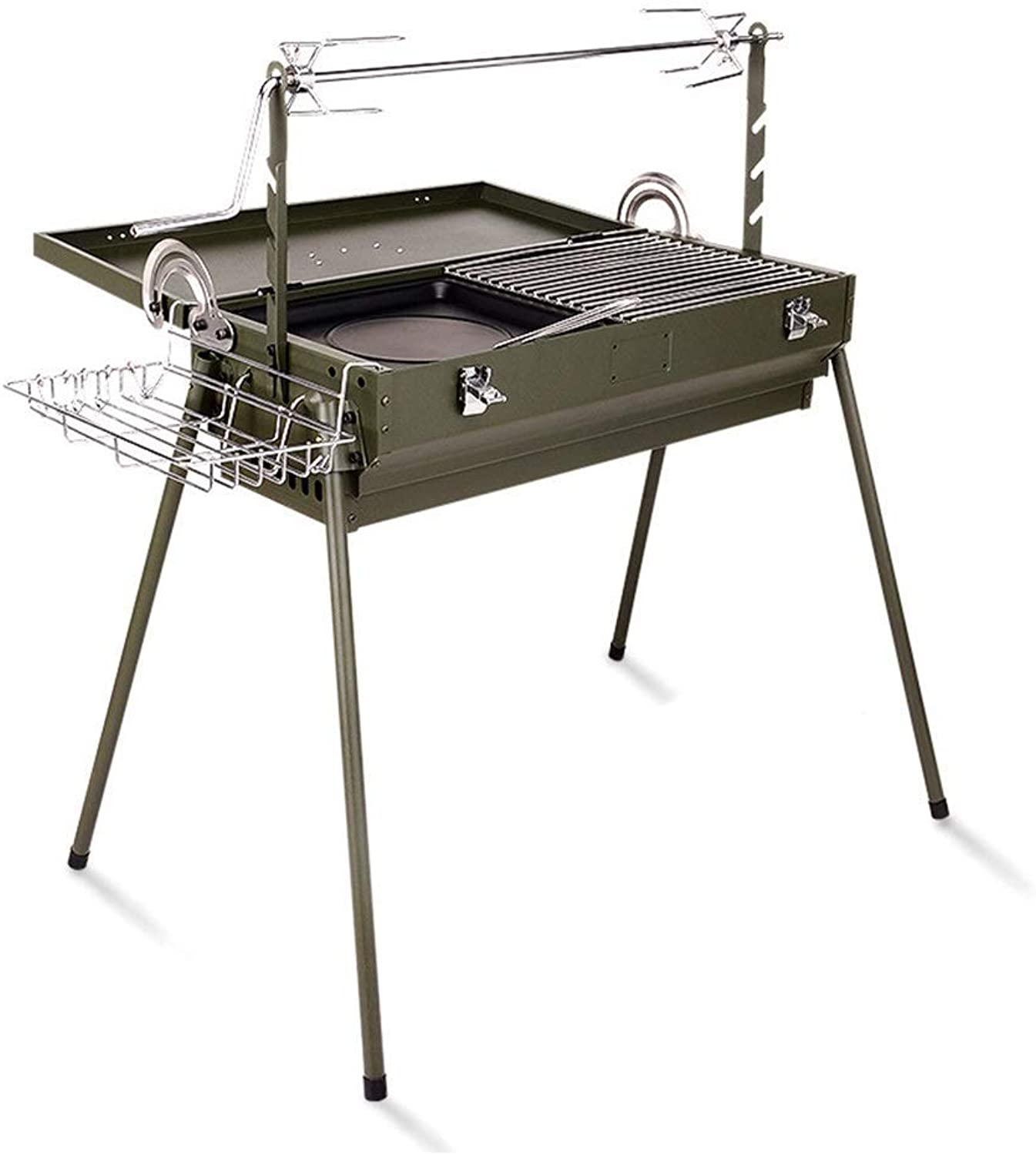 BBQ Supplies Barbecue Easy Barbecues Tool Set Grill Stainless Steel Makita Oven Charcoal Tools redating Fork Garden Picnic Beach BBQ, Full Accessories Foldable