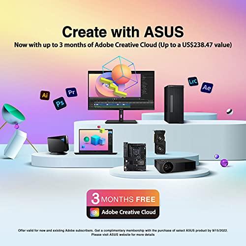 "ASUS ProArt Display 27"" 4K HDR Monitor (PA279CV) - UHD (3840 x 2160), IPS, 100% sRGB/Rec. 709, ΔE < 2, Calman Verified, USB-C Power Delivery, DisplayPort, HDMI, USB 3.0 hub, Height Tilt Adjustable"