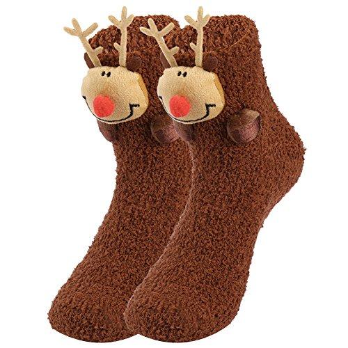 VBIGER Damen und Herren Weihnachten Socken Winter Socken Rutschfeste Handgriff Boden Socken