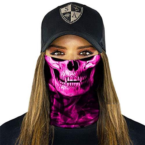 SA Fishing Face Shields (FBA), Stealth Tech   Pink Crow
