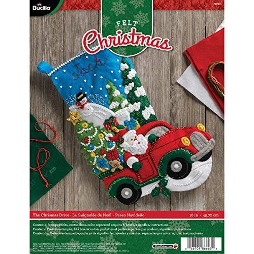 Bucilla-Aufnäher Weihnachtsstrumpf aus Filz, die Weihnachten, Drive, 86663Größe 18