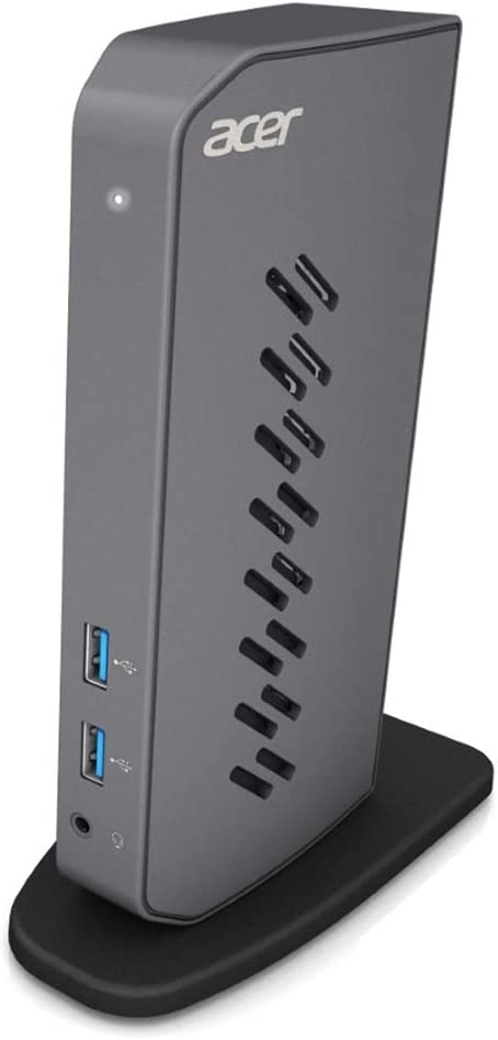 Acer U301 USB 3.0 Dock for Windows | 2 x HDMI Ports | 2 USB 3.1 Gen 1 Ports | 4 USB 2.0 Ports | Gigabit Ethernet | Requires One USB 3.1 Type A or USB 3.1 Type-C on Computer