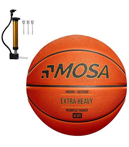 MOSA Baloncesto de entrenamiento pesado de 1,8 kg para uso en interiores o exteriores (tamaño oficial de 29,5 pulgadas)