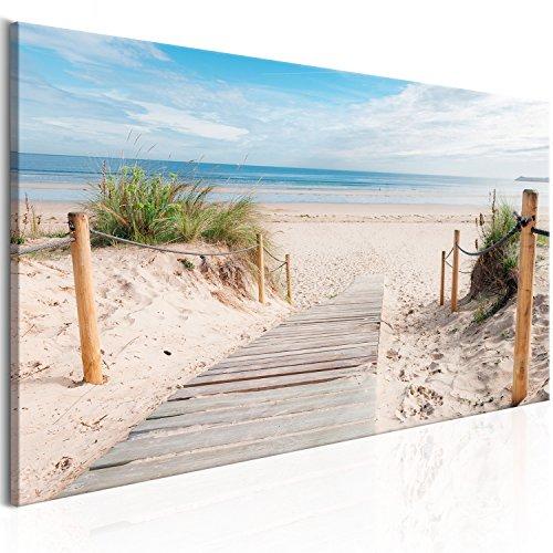 murando - Bilder Strand 135x45 cm Vlies Leinwandbild 1 TLG Kunstdruck modern Wandbilder XXL Wanddekoration Design Wand Bild - Landschaft Meer c-B-0158-b-a