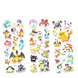 Xiangxin 3pcs Cartoon Anime Pokemon Stickers Notebook Label for Kids Home Decor Diary