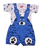 Soft-Touch Dungaree Cloth Dress Kids for Unisex Babygirl Babyboy (Blue, 0-3 Months)