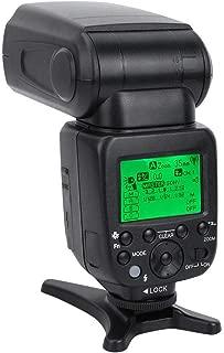 Topiky MK320-P Flash Speedlite para Panasonic Olympus DSLR Cameras Fotograf/ía Accesorio con La Pantalla LCD Giratoria