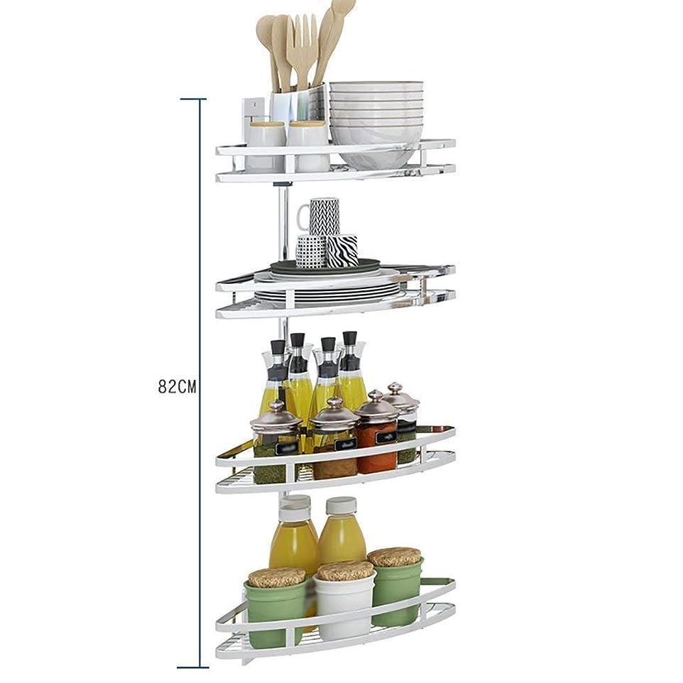 と組むマッシュゴミ箱を空にするDXX-HR コーナーを掘削せずにバスルーム棚304ステンレス鋼のスイベルスタンド、コーナーの棚、複数の層を持つキッチンの棚、浴室付属品、銀
