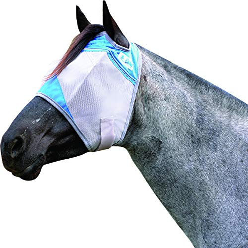 Cashel Crusader Horse Fly Mask, Standard, Arabian/Small Horse, Blue
