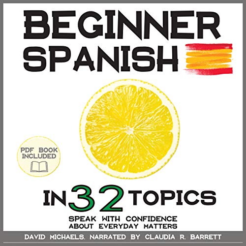 Beginner Spanish in 32 Topics audiobook cover art