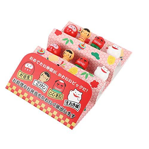 BESTonZON 8Pcs Lebensmittel Obst Gabel Picks für Kinder Nette Bento Box Decor Cartoon Kunststoff Zahnstocher Garnieren Zahnstocher Trinken Spieße für Kinder Geburtstag Ostern Party