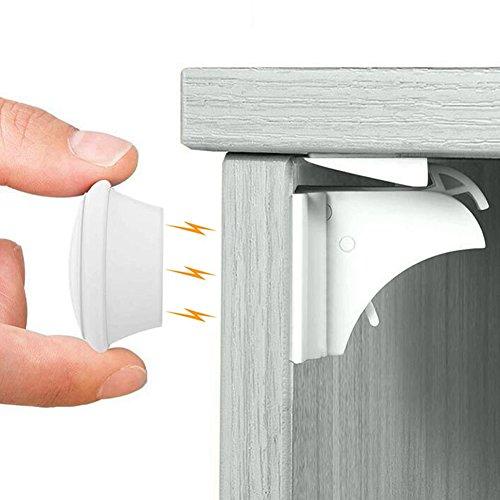 ベビーガード 安全磁気キャビネットロック(10ロック と 2キー と 2固定器)Babiejoy 日本語説明書付き ストッパー 引き出し タンス 食器棚など対応 取り付ける簡単 ケガ防止 子供赤ちゃん守る 地震対策
