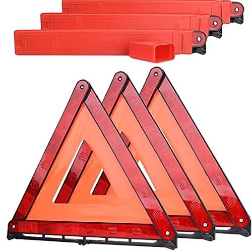 Bil triangeln varningstecken bil akut uppdelning vikning varningsskylt vägsäkerhet parkeringsbräda med röd LED varningslampa