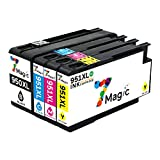 7Magic 950xl 951xl Cartuchos de tinta de repuesto compatibles con HP Officejet Pro 8100 8600 8610 8620 8630 8640 8660 8615 8625 251dw 276dw (1 negro, 1 cian, 1 magenta, 1 amarillo)