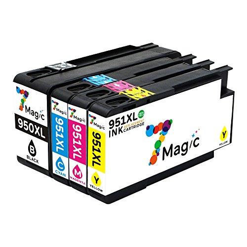 950xl 951xl Cartuchos, 7Magic Cartucho de Tinta Compatible HP 950XL 951XL con Más Reciente Chip con HP OfficeJet Pro 8610 8600 8620 8100 8615 276DW 8630 8660