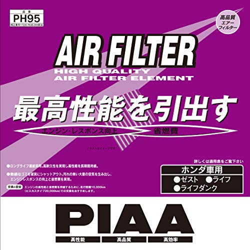 PIAA エアーフィルター SAFETY ホンダ車用 PH95
