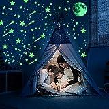 Ezigoo Glow In The Dark set de décoration - 476 pièces (Lune, étoiles, comètes et points). Décalcomanies lumineuses pour murs et plafonds. Accessoires de décoration idéaux pour d'enfants