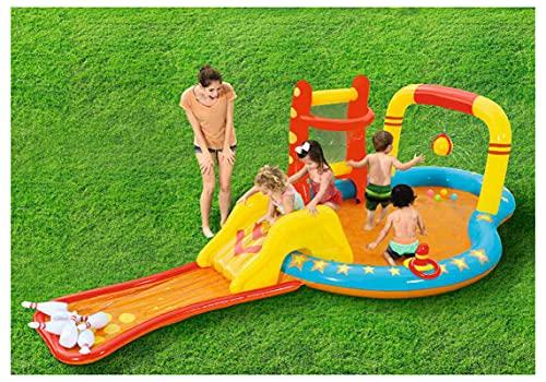 ZHMIAO Schwimmfamilie aufblasbarer Pool, Pool für Kinder und Erwachsene Unterhaltung, Bowling-Vergnügungspool für Hinterhof, Sommer-Wasserparty, im Freien, Garten
