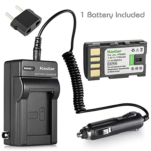 Kastar Battery and Charger Kit for JVC Everio GZ-MG330, GZ-MG330AU, GZ-MG330RU, GZ-MG330HU HD Camcorder and JVC BN-VF808 BN-VF815 BN-VF823 Battery