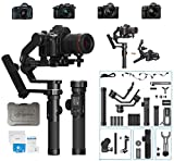 Feiyu Tech AK4500 STD 3-Axis Gimbal Stabilizer Payload 10.1 Lbs for Mirrorless & DSLR Camera for Sony A7M3 A7R3,Canon 1DX 6D 5D IV,Panasonic GH5 GH5S,Nikon D850 with (Rmote Control &Follow Focus) Kit.