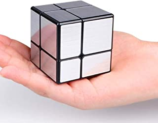 CuberSpeed 2x2 Mirror Black Body with Silver Magic Cube Mirror Silver Blocks 2x2x2 Speed Cube