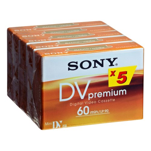 Sony 5er-Pack MiniDV Premium Tape - 60 min - Audio/Video Tape (6,35 mm)