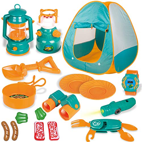 FUN LITTLE TOYS Kids Play Tent, Pop Up Tent with Kids Camping...
