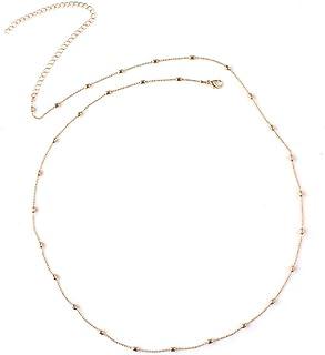 Iuhan Belly Waist Chain Belly Waist Chain Waistband Bikini Beach Bikini Gold Body Necklace