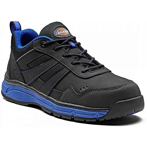 Dickies Herren Emerson Safety Water Resistant Workwear Toe Cap Trainers, Blau (Schwarz / Königsblau), 39
