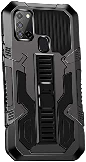 Hicaseer Case for Galaxy A21S, PC Hard Back Textured Shock and Drop Resistant Cover with Double Orotection Stand phone Cas...