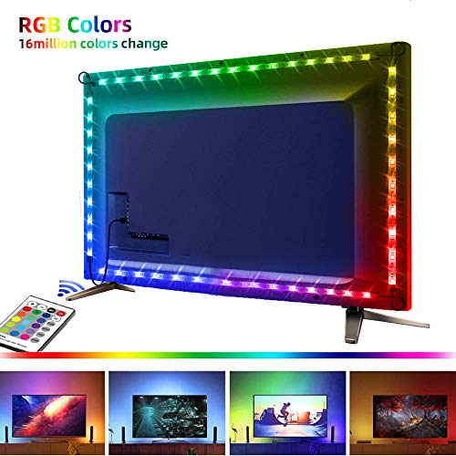 LED Strip Lights USB Powered, 4 * 0.5M Tv Backlights, LED Strip Lights with Remote for TV Monitor PC Laptop Desk Backlight, Color Changing Rope Lights TV Bias Lighting Kit for Room Home Movie Decor …
