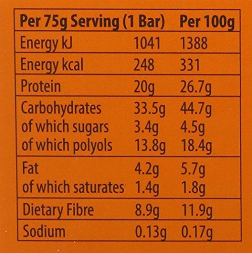 LUX Protein Flapjack Bar Chunk, Chocolate, 12 x 75g Bars