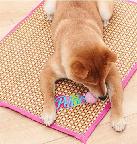 AlierKin Dog Cat Bamboo Fiber Mat Cool Pet Sleeping Mat Summer, Dog Cat Bamboo Fiber Mat Cool, Pet Cushion Moistureproof, Pet Bamboo Cooling Mat, Comfortable Puppy Pad-Red_XL