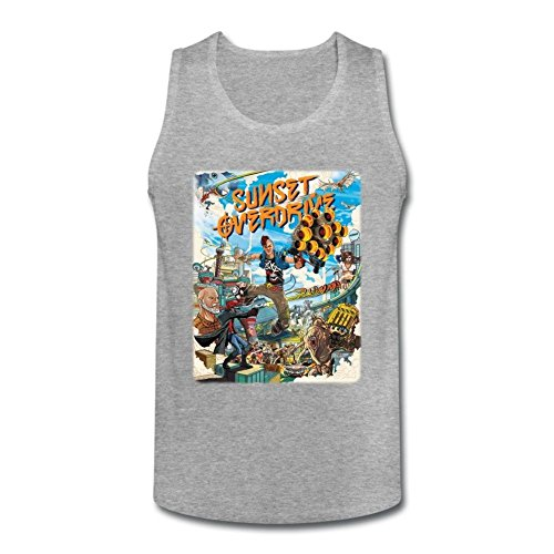 Herren's Sunset Overdrive Game Poster Art Tank Top X-Large