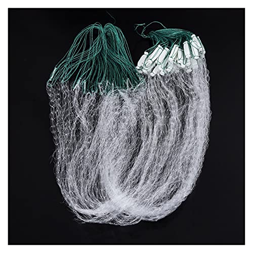 Fishing net 8M/20M Durable Single Layer Monofilament Fishing Net Fish Gillnet with Float Trap for Outdoor Hand Catching Fish Fishing Tool Durable and Anti-Corrosion (Color : 20m)