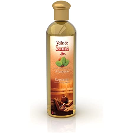 Camylle - Voile de Sauna Eucalyptus - Fragrances à base d'Huiles Essentielles 100% Pures et Naturelles pour Sauna - Respiratoire aux arômes frais et pénétrants - 500ml