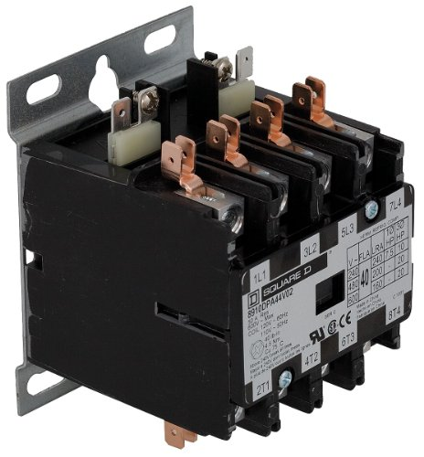 Replacement for Square D 8910DPA44V02 - Replaced by Eaton/Cutler Hammer C25END440A 50mm DP Contactor, 4-Pole, 40 Amp, 120 VAC Coil Voltage