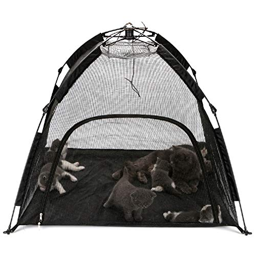 LONGOU 40Inch Outdoor Cat Enclosures for Indoor Cats Small Dogs,Cat Tent Pop Up Cat House Outside...
